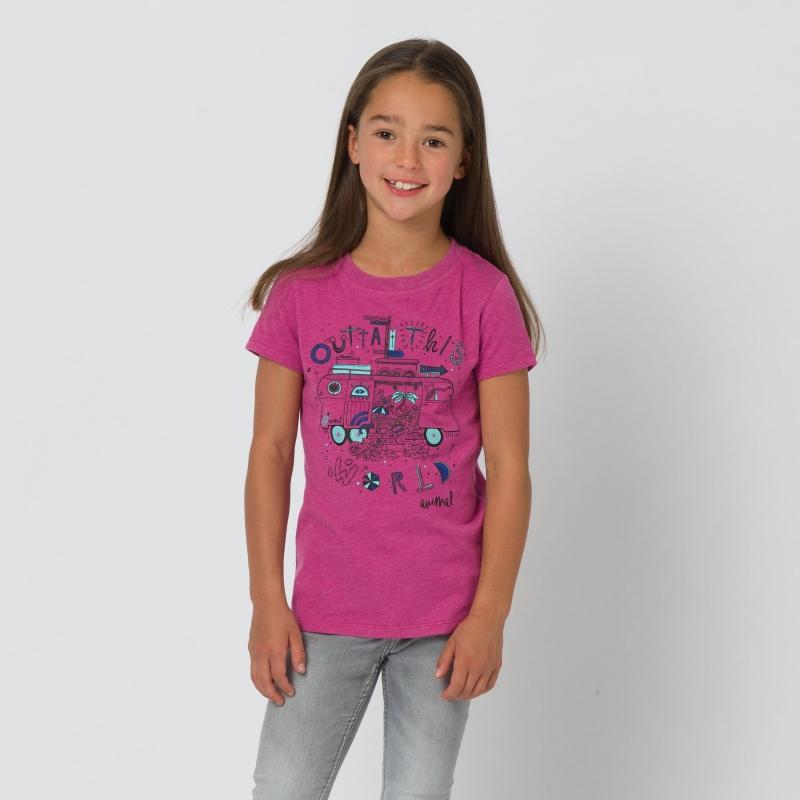 Animal Girls Dreambus Tee Rosewood Pink Animal Girls/' Clothing