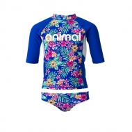 SPLASHED RASH VEST SUIT